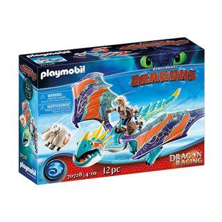 Εικόνα της Playmobil Dragons - Dreamworks Racing, Άστριντ Και Λευκή Οργή 70728