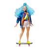Εικόνα της Barbie Extra - Doll 4 With Skateboard And 2 Kittens Blue Curly Hair GRN30