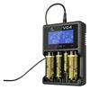 Εικόνα της Φορτιστής Μπαταριών Βιομηχανικού Τύπου Xtar VC4 USB, 4 Θέσεων με LCD Οθόνη Επιπέδου Φόρτισης για 18650/17670/17500