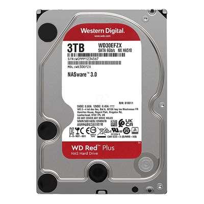 """Εικόνα της Εσωτερικός Σκληρός Δίσκος NAS Western Digital Red Plus 3TB 3.5"""" SATA ΙΙΙ 128MB 5400rpm WD30EFZX"""