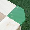 Εικόνα της Outsunny - Ξύλινη Τετράγωνη Αμμοδόχος με Οροφή Σκίασης 343-035