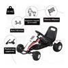 Εικόνα της HomCom - Παιδικό Αυτοκινητάκι Go Cart με Πεντάλ 341-036