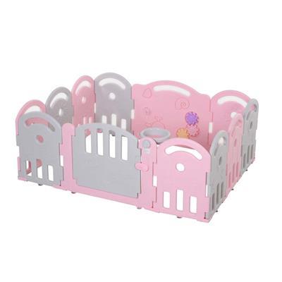 Εικόνα της HomCom - Πλαστικός Παιδότοπος, Φράχτης Παιχνιδιού 431-041PK