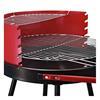 Εικόνα της Outsunny Τροχήλατη Ψησταριά Barbecue Μαύρο/Κόκκινο 01-0562