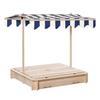 Εικόνα της Outsunny Wooden Sandpit with Sun Canopy 343-029