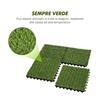 Εικόνα της Outsunny Συνθετικό Πυκνό Γρασίδι 10 Τεμάχια 30 x 30 cm Σκούρο Πράσινο 844-126