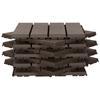 Εικόνα της Outsunny Πλαστικά πλακάκια κήπου-μπαλκονιού 9 Τεμάχια Brown 844-278BN