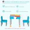 Εικόνα της HomCom - Σετ Παιδικό Τραπέζι με 2 Καρέκλες και 4 Κουτιά 312-038