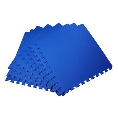 Εικόνα της HomCom - Interlocking Puzzle Mat Σετ 8 Τεμάχια 60x60cm, Μπλε 02-0122