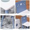 Εικόνα της HomCom - Τραπέζι με Καρέκλες σε Ανοιχτό Μπλε και Λευκό Ξύλο 312-035