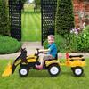 Εικόνα της HomCom - Παιδικός Εκσκαφέας με Πετάλια και Τρέιλερ 341-019