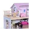 Εικόνα της HomCom - Ξύλινο Κουκλόσπιτο με 4 Ορόφους και Αξεσουάρ 350-011
