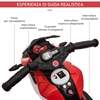 Εικόνα της HomCom - Ηλεκτρονική μοτοσικλέτα με Μουσική, Μαύρο-Κόκκινο 370-103V90RD