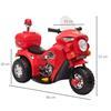 Εικόνα της HomCom - Ηλεκτροκίνητο Scooter με 3 τροχούς, ρεαλιστικά φώτα και ήχους, κόκκινο 370-109V90RD