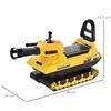 Εικόνα της HomCom - Παιδικό Tank με πυροβόλο μπάλα και αποθηκευτικό χώρο, Ride On Toys, κίτρινο 370-122