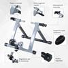 """Εικόνα της HomCom - Πτυσσόμενο Προπονητήριο Ποδηλάτου 26-28"""" Ασημί 5661-0059"""