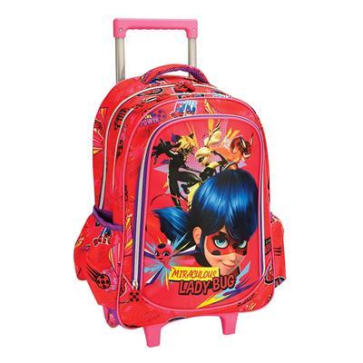 Εικόνα της Gim - Τσάντα Δημοτικού Trolley Ladybug Girlpower 346-05074