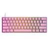 Εικόνα της Πληκτρολόγιο HK Gaming GK61 RGB Gateron Black Switch (US) Pink