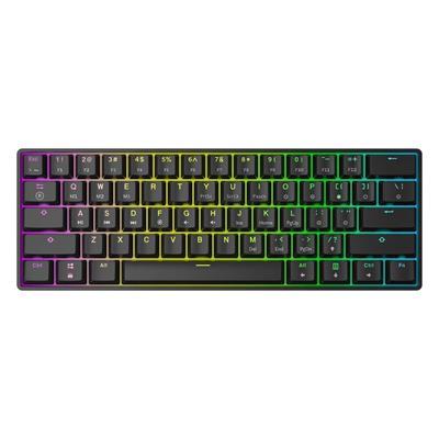 Εικόνα της Πληκτρολόγιο HK Gaming GK61 RGB Gateron Black Switch (US) Black