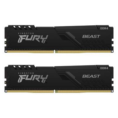 Εικόνα της Ram Kingston Fury Beast 16GB (2x8GB) DDR4-3200MHz CL16 KF432C16BBK2/16 Black