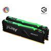 Εικόνα της Ram Kingston Fury Beast RGB 16GB (2x8GB) DDR4-2666MHz CL16 KF426C16BBAK2/16 Black