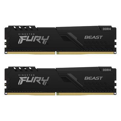 Εικόνα της Ram Kingston Fury Beast 8GB (2x4GB) DDR4-2666MHz CL16 KF426C16BBK2/8 Black