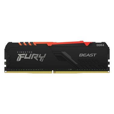 Εικόνα της Ram Kingston Fury Beast RGB 8GB DDR4-2666MHz CL16 KF426C16BBA/8 Black