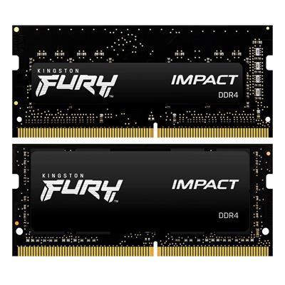 Εικόνα της Ram Kingston Fury Impact 16GB (2x8GB) DDR4-2666MHz SODIMM CL15 KF426S15IBK2/16 Black