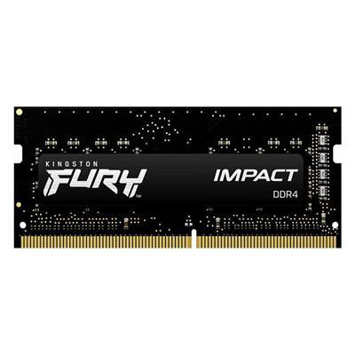 Εικόνα της Ram Kingston Fury Impact 8GB DDR4-2666MHz SODIMM CL15 KF426S15IB/8 Black