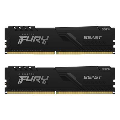 Εικόνα της Ram Kingston Fury Beast 8GB (2x4GB) DDR4-3200MHz CL16 KF432C16BBK2/8 Black