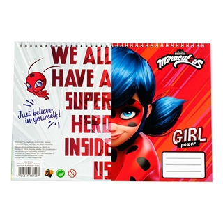 Εικόνα της Gim - Μπλοκ Ζωγραφικής Ladybug 23X33 cm 40φ. + Stickers 346-05416