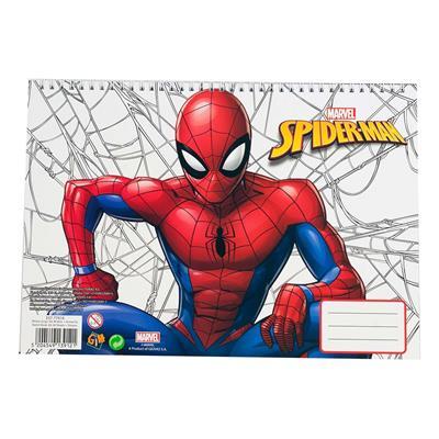 Εικόνα της Gim - Μπλοκ Ζωγραφικής Spiderman 23X33 cm 40φ. + Stickers 337-77416