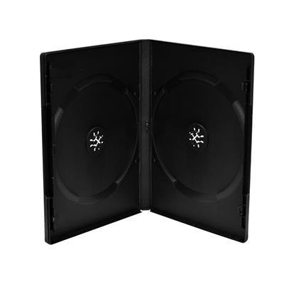 Εικόνα της MediaRange DVD Case for 2 Discs 14mm (machine packing grade) Black BOX07-M