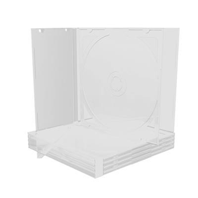 Εικόνα της MediaRange CD Jewelcase for 2 Discs 10.4mm Transparent Tray BOX23-T