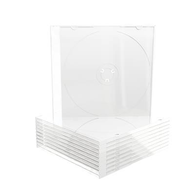 Εικόνα της MediaRange CD Slimcase for 1 Disc, 5.2mm, White Tray BOX19