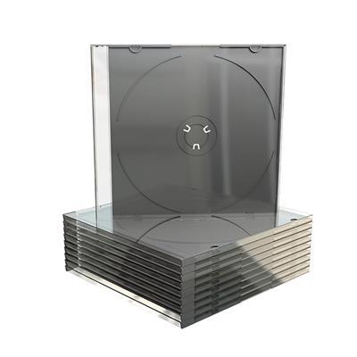 Εικόνα της MediaRange CD Slimcase for 1 Disc 5.2mm (machine packing grade) Black Tray BOX21-M