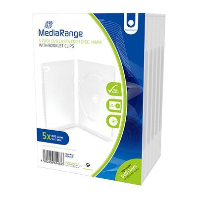 Εικόνα της MediaRange DVD Case for 1 Disc 14mm Transparent (5 Pack) BOX30-T