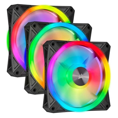 Εικόνα της Case Fan Corsair QL120 120mm RGB PWM Black (3-Pack) CO-9050098-WW