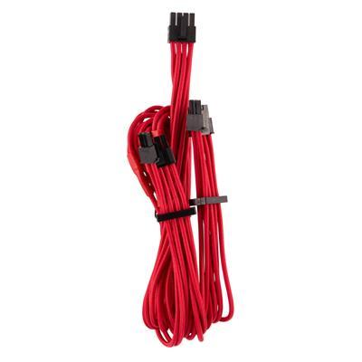 Εικόνα της Corsair Premium Sleeved Dual PCIe Cable Type-4 Gen4 Red CP-8920251