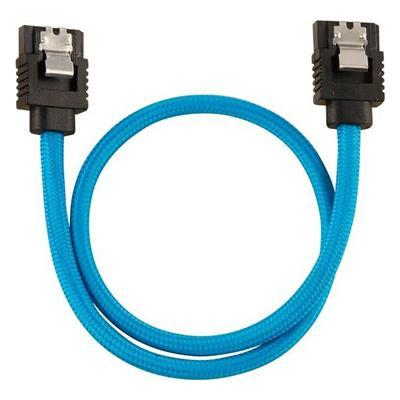 Εικόνα της Corsair Premium Sleeved SATA III Straight 30cm Blue (2-Pack) CC-8900251
