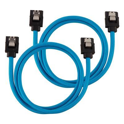 Εικόνα της Corsair Premium Sleeved SATA III Straight 60cm Blue (2-Pack) CC-8900255
