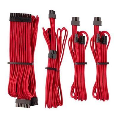 Εικόνα της Corsair Premium Sleeved PSU Cables Starter Kit Type-4 Gen4 Red CP-8920216