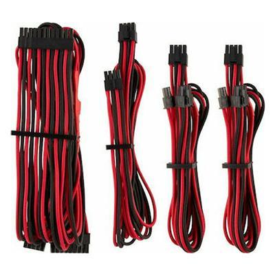 Εικόνα της Corsair Premium Sleeved PSU Cables Starter Kit Type-4 Gen4 Red/Black CP-8920219