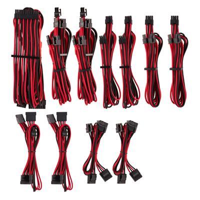 Εικόνα της Corsair Premium Sleeved PSU Cables Starter Kit Type-4 Gen4 Red/Black CP-8920226