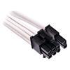 Εικόνα της Corsair Premium Sleeved Single PCIe Cable Type-4 Gen4 White CP-8920245