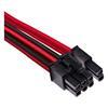 Εικόνα της Corsair Premium Sleeved Single PCIe Cable Type-4 Gen4 Red/Black CP-8920247