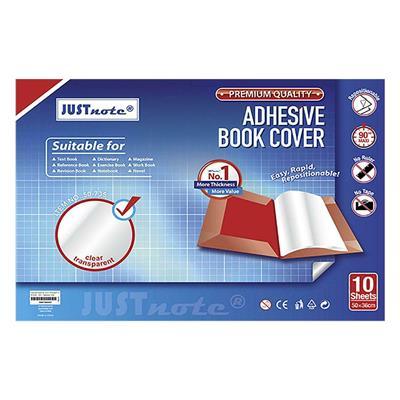 Εικόνα της Justnote - Αυτοκόλλητο Φύλλο Ντυσίματος Βιβλίου ή Τετραδίου Διαφανές CPP 50x36cm 10 τεμ. 50-735