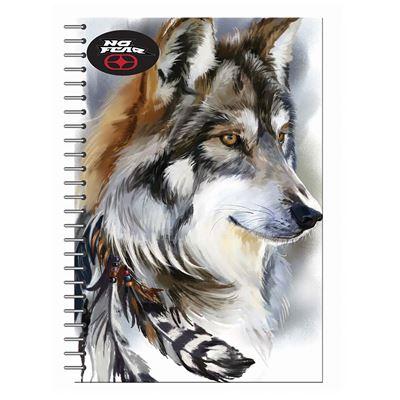 Εικόνα της No Fear - Τετράδιο Spiral, Wild Wolf 17x25cm 2 Θέματα 347-85402