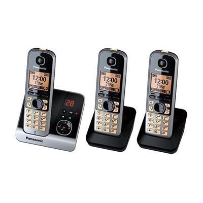 Εικόνα της Ασύρματο Τηλέφωνο Panasonic KX-TG6723GB Triple Black