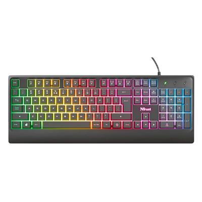 Εικόνα της Πληκτρολόγιο Trust Ziva Rainbow LED (GR) Black 24102